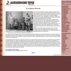 Hurons tribu indienne est Canadien