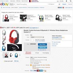 Bluedio Turbine Hurricane H Bluetooth 4.1 Wireless Stereo Headphones Headset LT