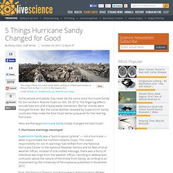 5 Things Hurricane Sandy Changed for Good