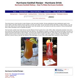 Hurricane Cocktail Drink, Hurricane Cocktail Recipe, Pat O'Brien's Hurricane Cocktail, Hurrican Cocktail Recipe, How To Make Hurricane Cocktail