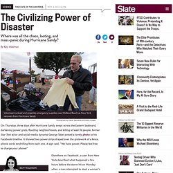 Looting after Hurricane Sandy: Disaster myths and disaster utopias explained