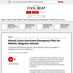 Hawaii Lacks Hurricane Emergency Plan for Waikiki, Neighbor Islands