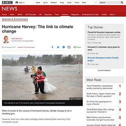 Hurricane Harvey: The link to climate change