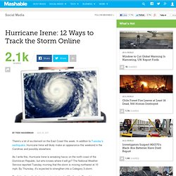 Hurricane Irene: 12 Ways to Track the Storm Online