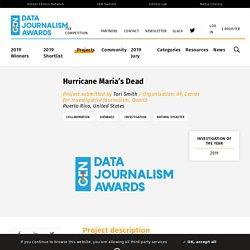 Hurricane Maria's Dead - Data Journalism Awards