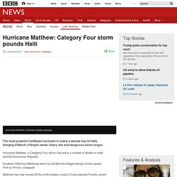 Hurricane Matthew: Dangerous storm closes in on Haiti