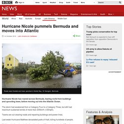 Hurricane Nicole pummels Bermuda and moves into Atlantic