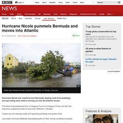 Hurricane Nicole pummels Bermuda and moves into Atlantic