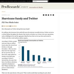 Hurricane Sandy and Twitter