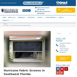 Hurricane Fabric Screens in Southwest Florida
