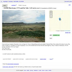 Hurricane, UT Land for Sale- 1.63 acres