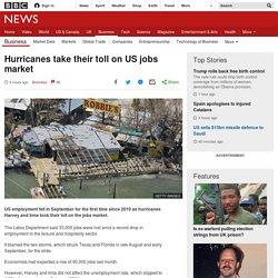 Hurricanes take their toll on US jobs market