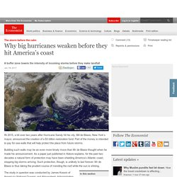 Why big hurricanes weaken before they hit America's coast