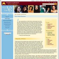 Zora Neale Hurston : Voices From the Gaps : University of Minnesota