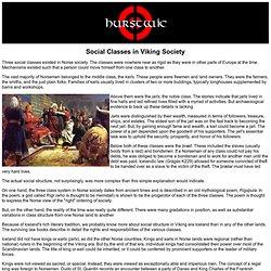 Social Classes in Viking Society