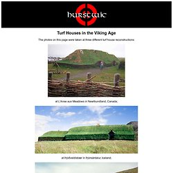 Turf Houses In The Viking Age