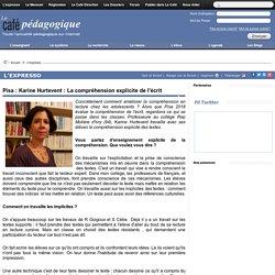 Pisa : Karine Hurtevent : La compréhension explicite de l'écrit