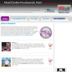 Order A Husband – MailOrderHusbands.Net