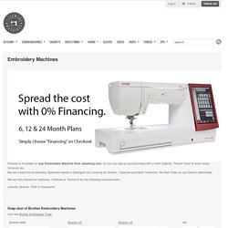 Brother, Husqvarna, Pfaff & Janome Embroidery Machines