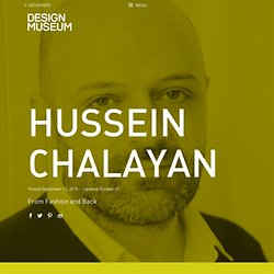 Hussein Chalayan - Design Museum