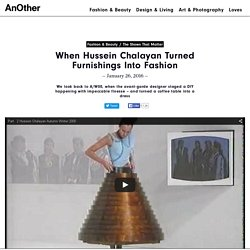 When Hussein Chalayan Turned Furnishings Into Fashion