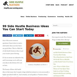 99 Side Hustle Business Ideas You Can Start Today - Side Hustle Nation