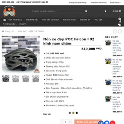 Sức hút của nón xe đạp POC Falcon F02 kính nam châm