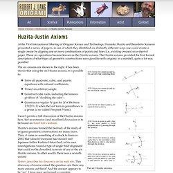 Huzita-Justin Axioms
