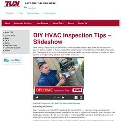 DIY HVAC Inspection Tips - Slideshow