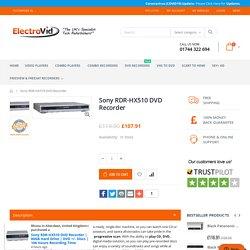 Sony RDR-HX510 DVD Recorder