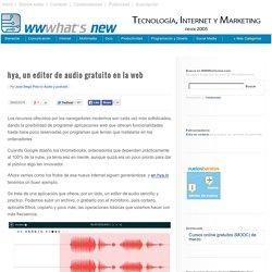 hya, un editor de audio gratuito en la web