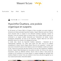 Hyacinthe Ouattara, une poésie organique en suspens