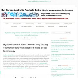 Hyaldew fillers : Korean long lasting dermal fillers patented micro beads technology