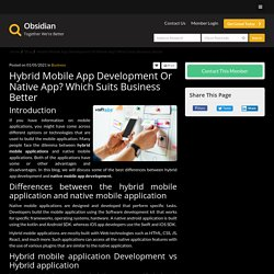 Hybrid App Development Or Native App? Which Suits Business Better