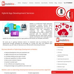 Hybrid Mobile App Development, Hybrid App Development Services