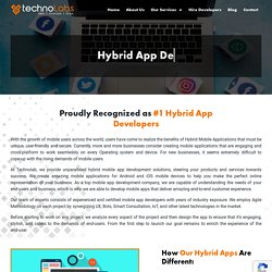 Hybrid App Development - Techno Labs