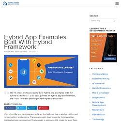 Hybrid App Examples Built With Hybrid Framework