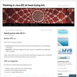 Thinking in Java EE (at least trying to!)