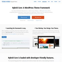 Hybrid Core: WordPress theme development framework