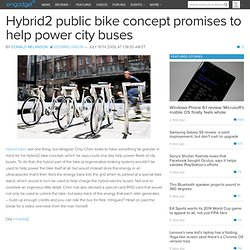 Hybrid2 public bike concept promises to help power city buses --