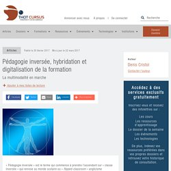 Pédagogie inversée, hybridation et digitalisation de la formation - Thot Cursus