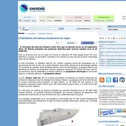 L'hybridation des bateaux de plaisance en vogue > Transport