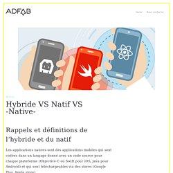 Hybride VS Natif VS -Native-
