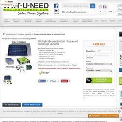 Kit hybride réinjection réseau et stockage 3000W