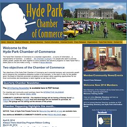 Welcome to the Hyde Park Chamber of Commerce