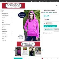 Hyde Park Hoodie - Peek-a-Boo Pattern Shop