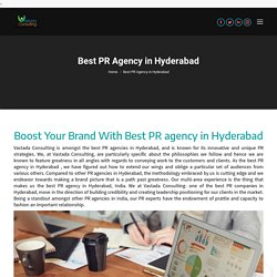 Pr Agency in Hydrabad
