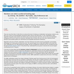 SIBM, Hyderabad: Following The Exemplary Legacy of Symbiosis In Hyderabad, Business - weSRCH