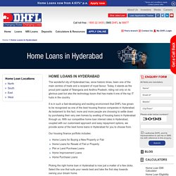 Home Loans in Hyderabad, Housing Finance Company in Hyderabad - DHFL
