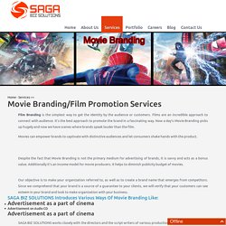 Movie/Film Branding Services in Hyderabad, Movie Promotion Services - Saga Biz Solutions